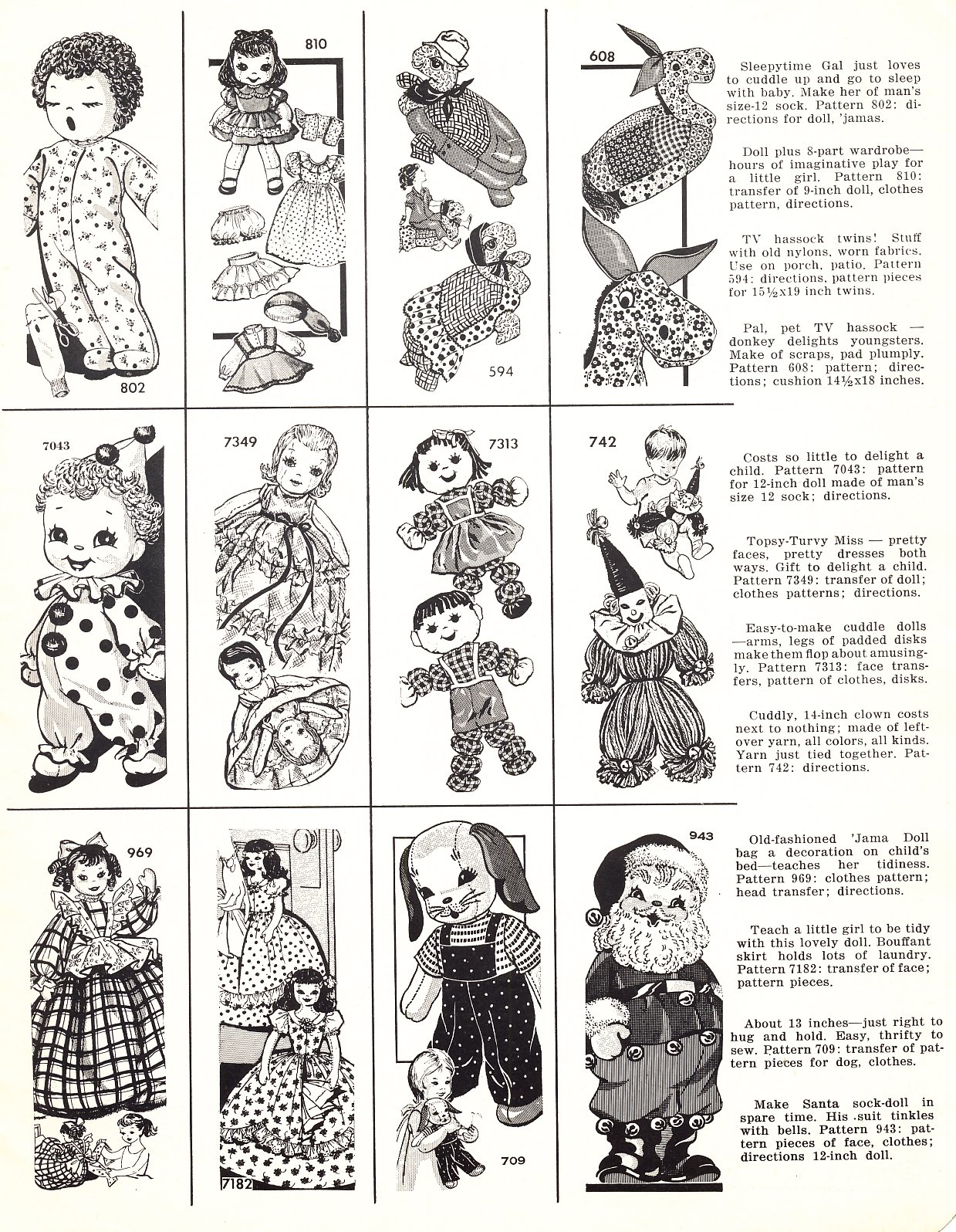 Vintage Cloth Doll Pattern 92