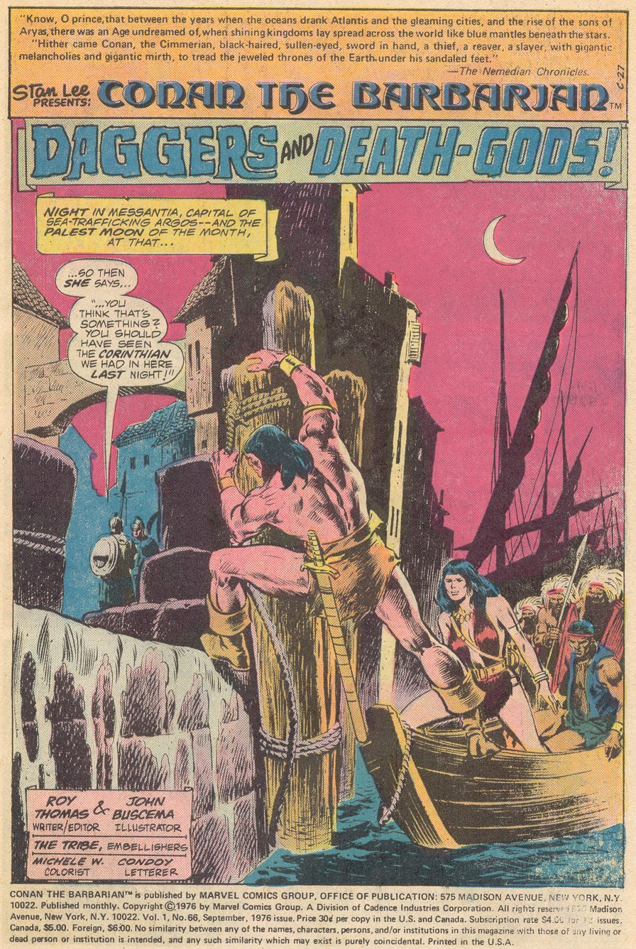 Conan the Barbarian (1970) Issue #66 #78 - English 2