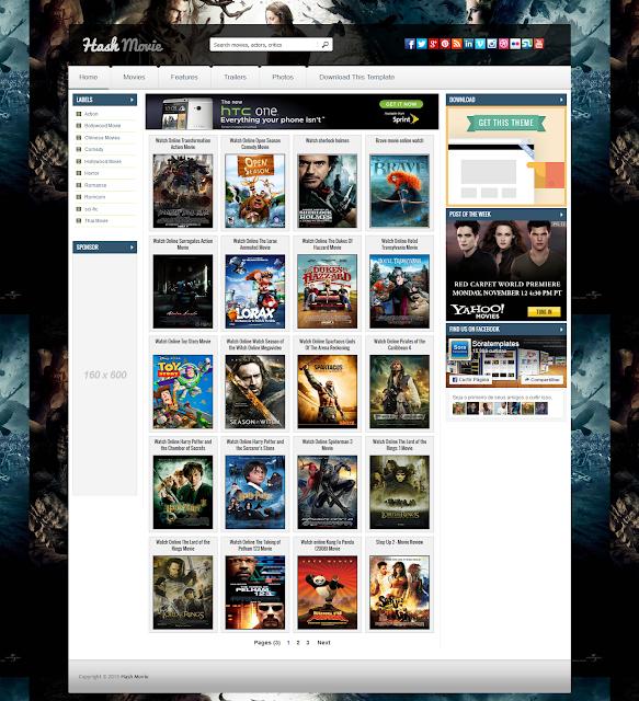 Hash Movie Blogger Responsive Film/Dizi Teması İndir