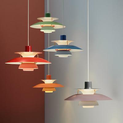 Lamaparas de PH5 Poul Henningser.  Colores. Precio. Diseñador. Historia
