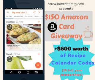 Enter the Recipe Calendar Sponsored Giveaway. Ends 3/7