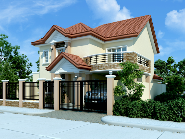 Dreaming for big house but don't have enough space of land to build? Two stories house design is the right solution for your problem. In this house design, big footage is not an issue to fulfilled your dream. Since this is square footage you can easily put extension or 2nd floor to have more space for your family.