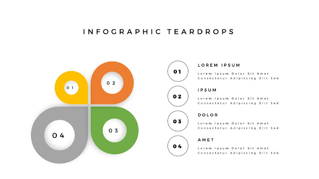 Infographic Teardrop elements for PowerPoint Slide 3