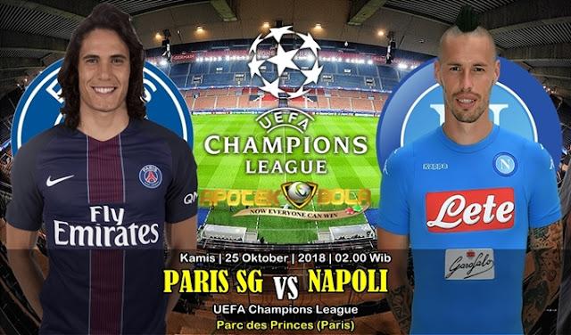 Prediksi Paris SG vs Napoli 25 Oktober 2018