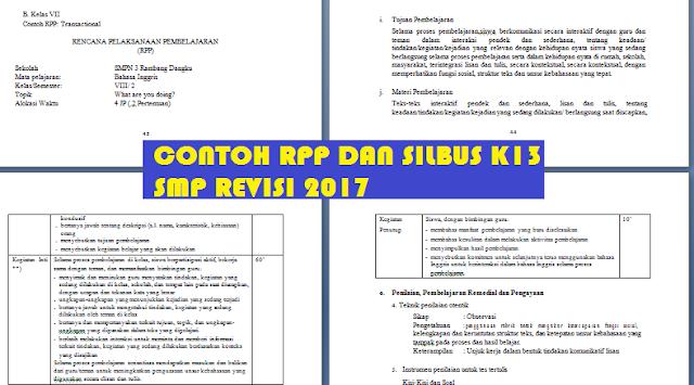 gambar contoh rpp dan silabus smp k13 revisi 2017