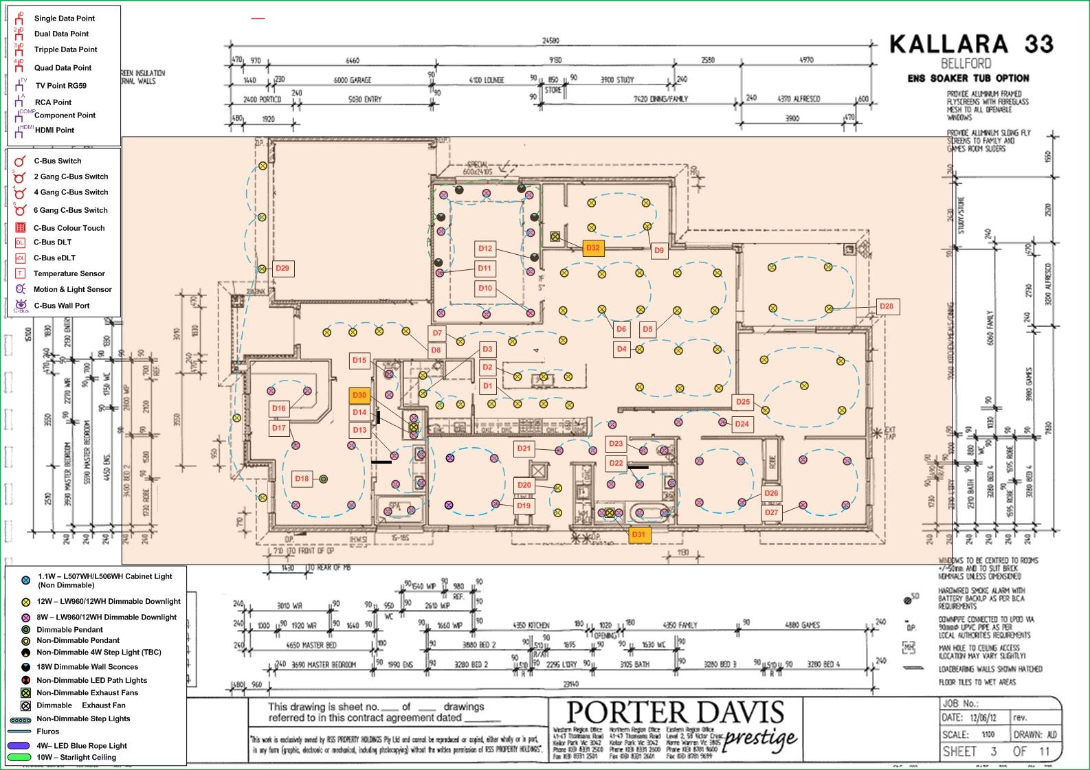 Kallara 33  Cbus  Data Points     Home       Theater     AV