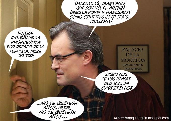 Viñeta Humor Artur Mas-Mariano rajoy
