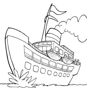 desenho de navio bem grande para pintar