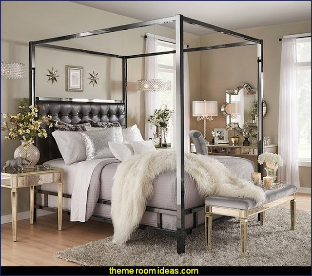 Solivita Canopy Black-Nickel Metal Poster Bed by INSPIRE-Q