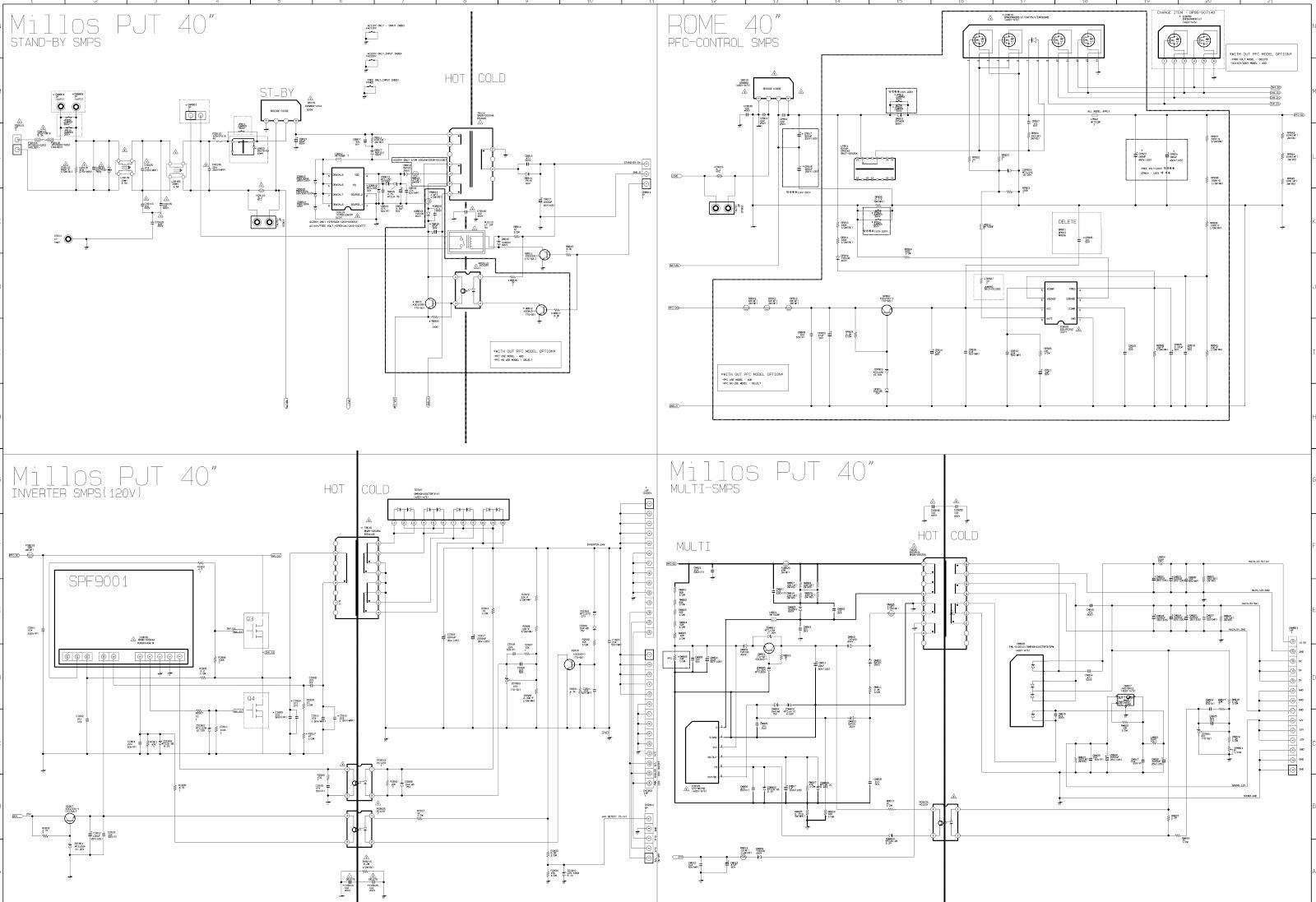 onida microwave circuit diagram