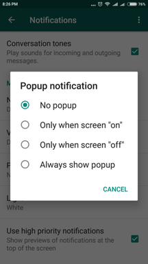 whatsapp notification
