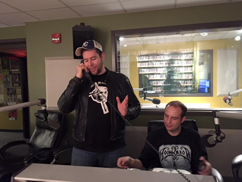 3dcb731ae Metal Al (left) on the phone with Frankenstein (Mike Hall), another former  Malicious Intent DJ who unfortunately couldn't make the show.