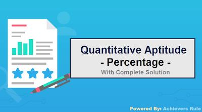 Quant Practice Problems:  Percentage