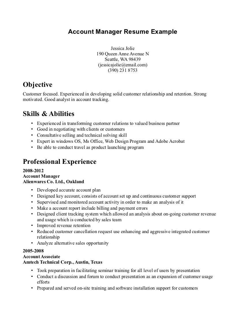 Accountant Lamp Picture Accounting Manager Resume Templates