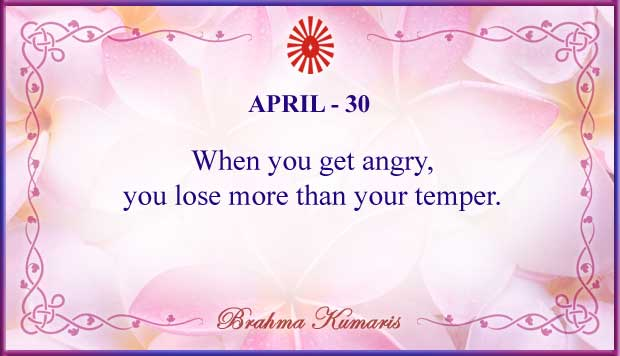 Thought For The Day April 30