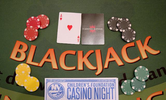 NY Islanders, casino fundraiser, black jack, roulette