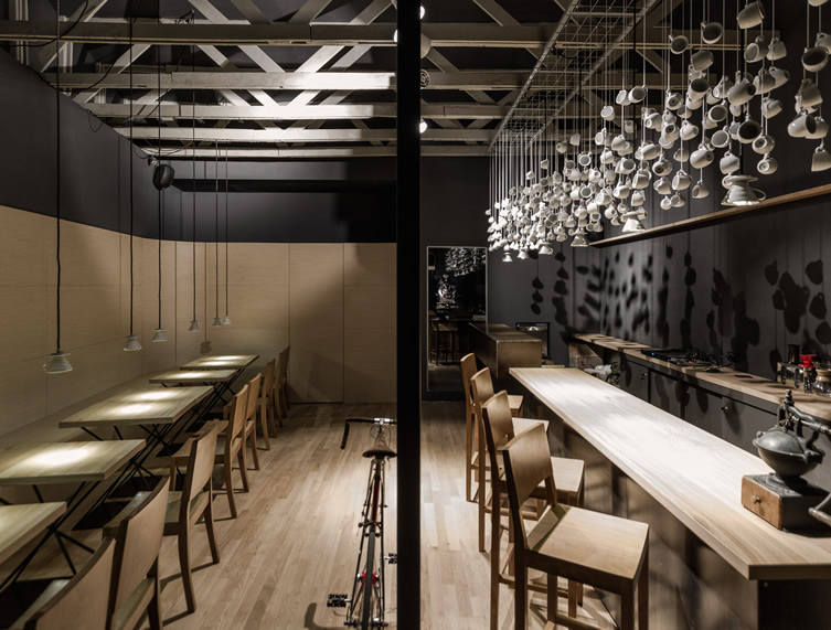 Origo, in Romania has done just this by splitting their space and concept  by time; coffee shop in the morning, cocktail bar at night.
