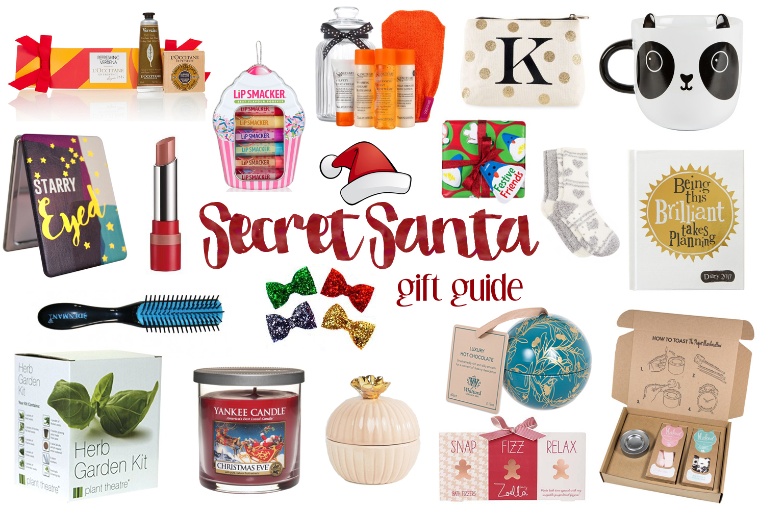 Secret Santa Gift Guide, Stocking Fillers for Under £15, Katie Kirk Loves, UK Blogger, Gift Guide, Christmas Gift Ideas, Secret Santa Gift Ideas, Beauty Gifts, Home Gifts, Food Gifts, Handmade Gifts, Gifts for Her, Gifts for Him, UK Gifts