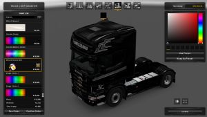 Black Skin for Scania RJL