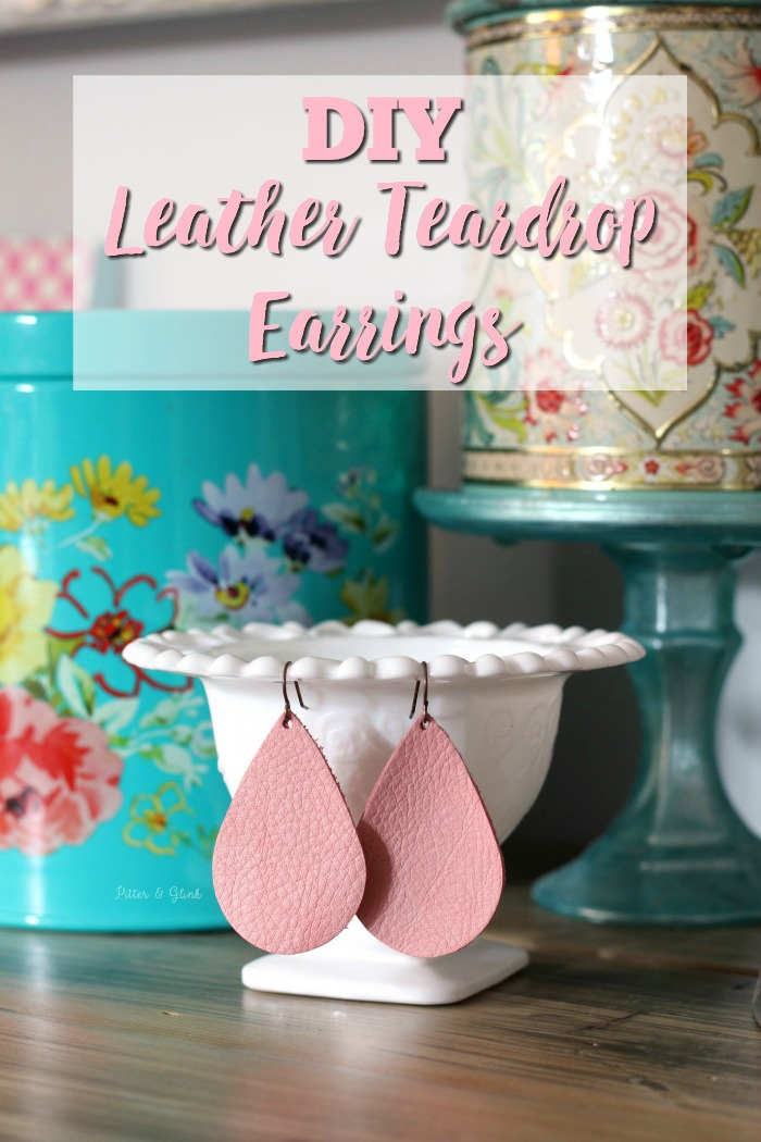 Ten Minute Leather Teardrop Earrings