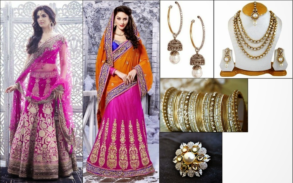 445903884d55 After bridal collection in this hot color, you can opt this girlish Pink  color at your bestie' s marriage function or reception party.