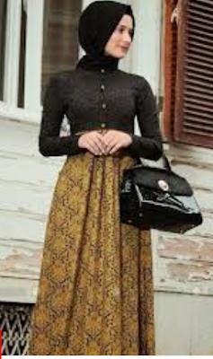 batik kombinasi muslimah