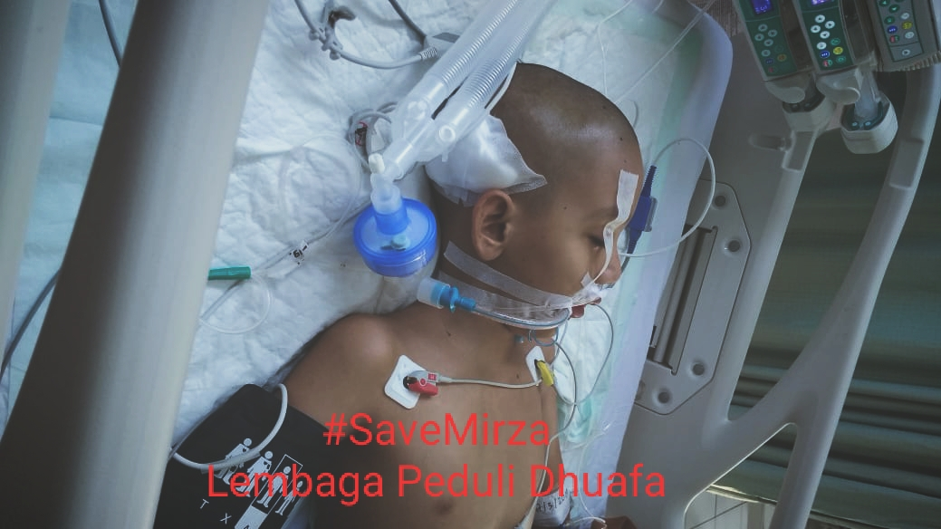 Jangan Biarkan Semangat orang tua Mirza pupus ditengah jalan, Mari Bantu Mirza yang sedang melawan Kanker di kepala