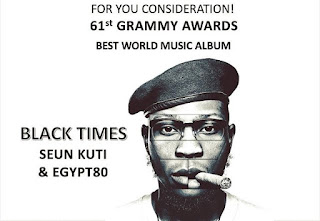 Seun Kuti Bags First Grammy Award Nomination.