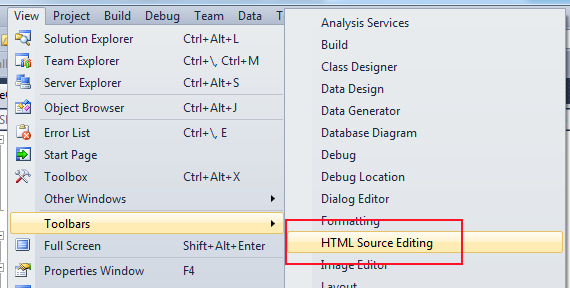 Allen Conway's Blog: Adding The HTML Target Schema Selection