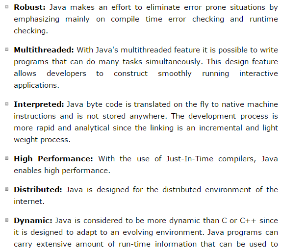 Java Is Robust With Dymanic And Hight Performance With Multithreaded