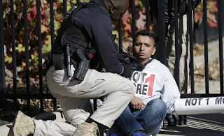 Immigrant Activists Stage Blockade To Stop Deportations