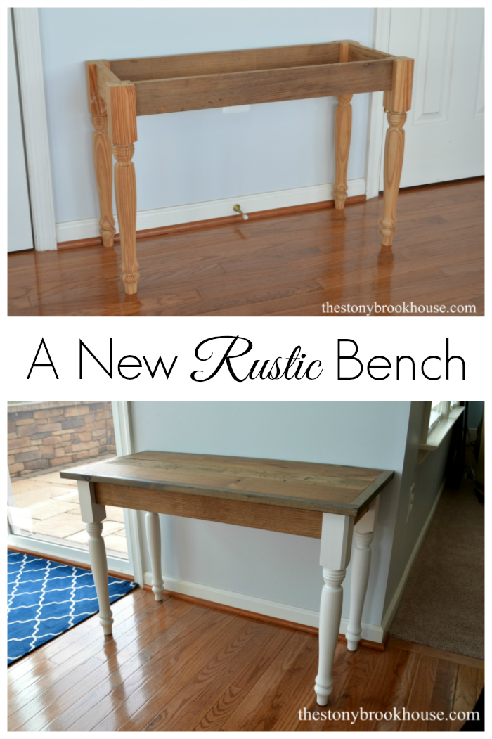 A New Rustic Bench
