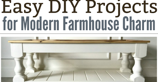 Modern Farmhouse DIY Projects & Weekly Link Party