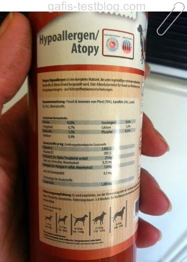 Wurst, Pferd und Kartoffel - Diät-Alleinfuttermittel von Vetpro