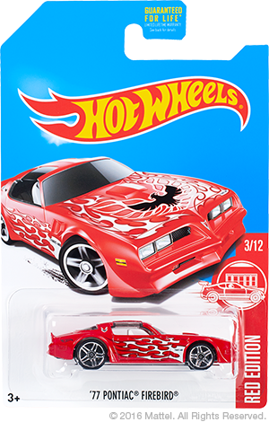 hot wheels red edition pontiac firebird