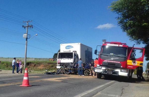 Acidente na BR 280 em Canoinhas deixa dois mortos