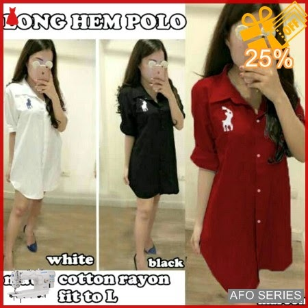 AFO194 Model Fashion Longhem Polo Modis Murah BMGShop