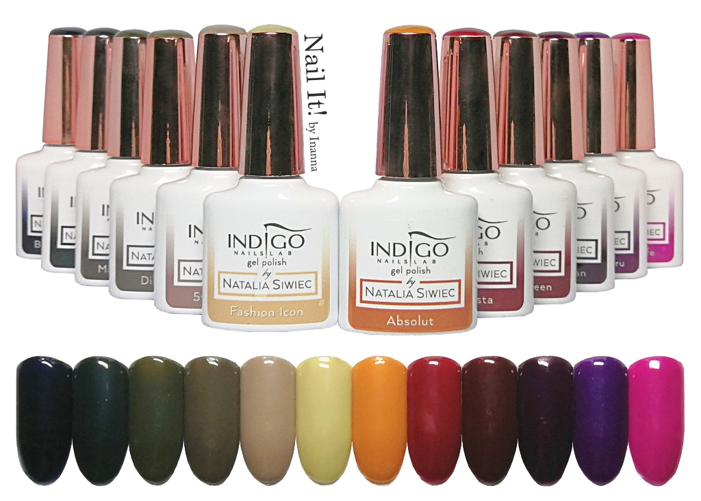 "Indigo Nails ""New York"" Collection by Natalia Siwiec - swatches of all 12 colors"