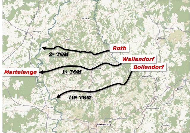Η κίνηση των τριών ΤΘΜ διαμέσου του Λουξεμβούργου