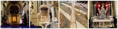 Duomo di Palermo con i particolari interni con testimonianze rinascimentali