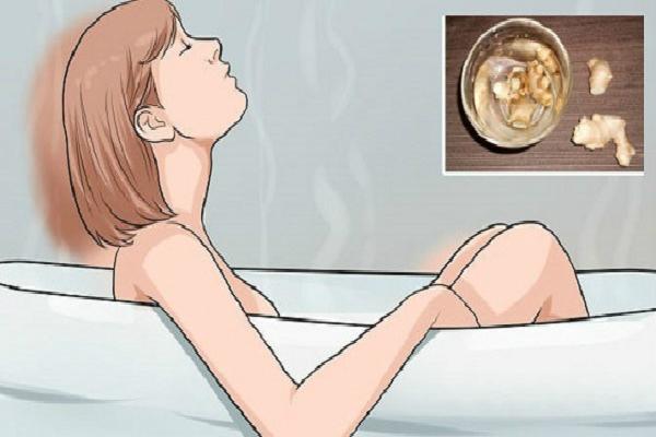 Tomar un baño en agua de jengibre antes de acostarse y observa lo que sucede a todas sus molestias y dolores