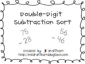 Marvelous Multiagers!: Subtraction Sort {Freebie!}