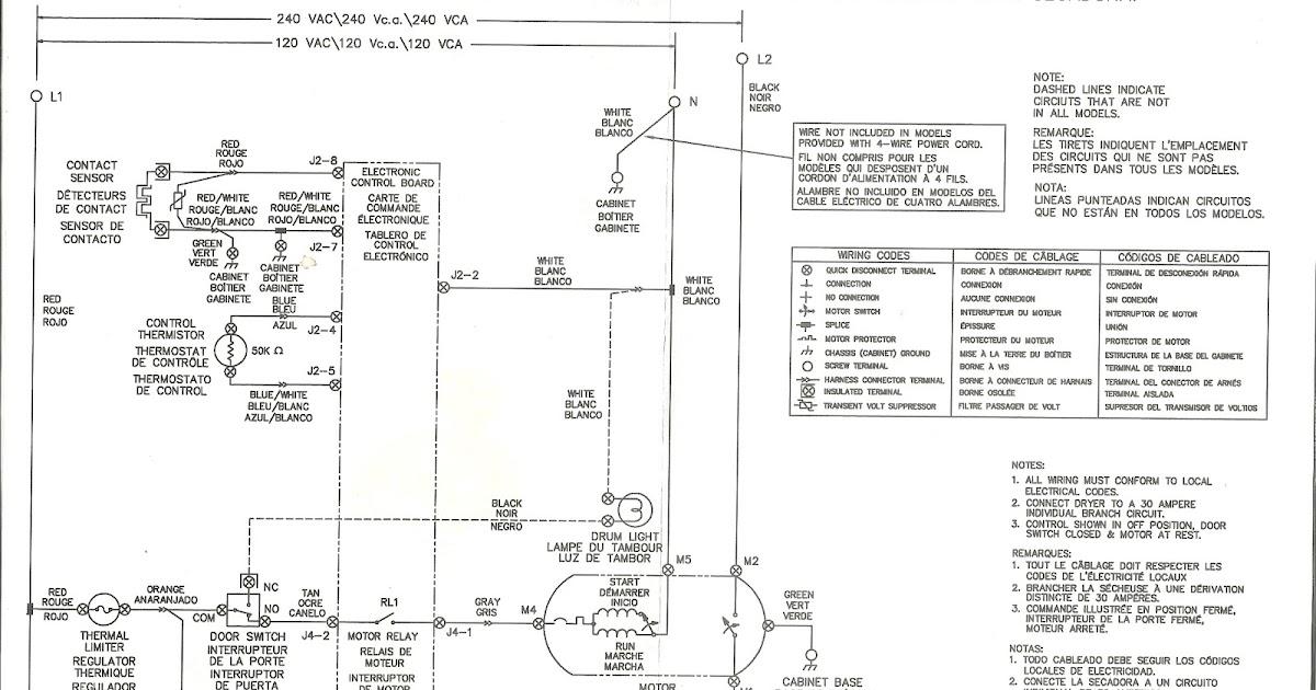 Appliance Talk: Frigidaire Front Load Dryer Wiring Diagram