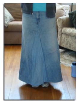 Как сшить юбку из джинсов