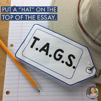 """For essay introductions, I tell my middle school students """"Just like you put a hat on the top of your head, you put a hat on the top of your essay!""""  #teaching #hack"""