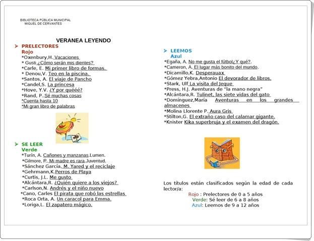 """""""Veranea leyendo 2"""" (Guía de Lectura Infantil de Verano)"""