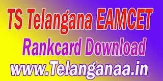 TS Telangana EAMCET TSEAMCET 2017 Rankcard Download