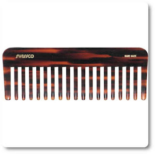 Swissco Tortoise Wet Comb Wide Tooth