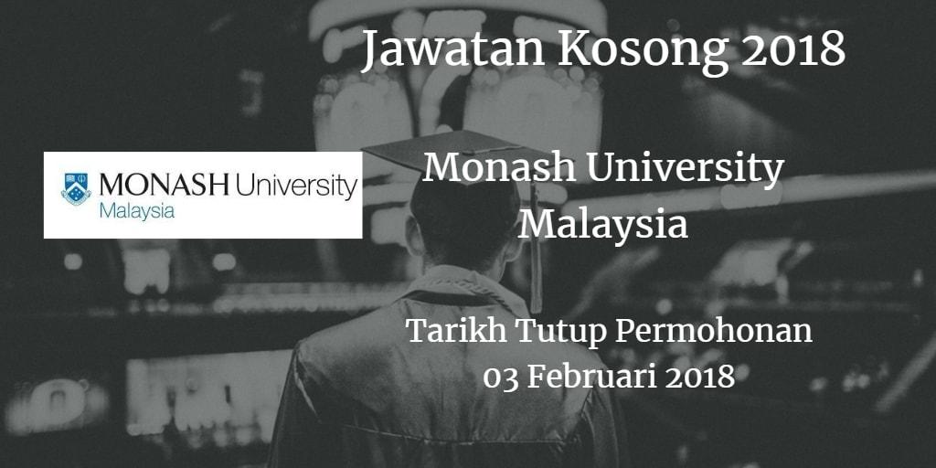 Jawatan Kosong Monash University Malaysia 3 Februari 2018