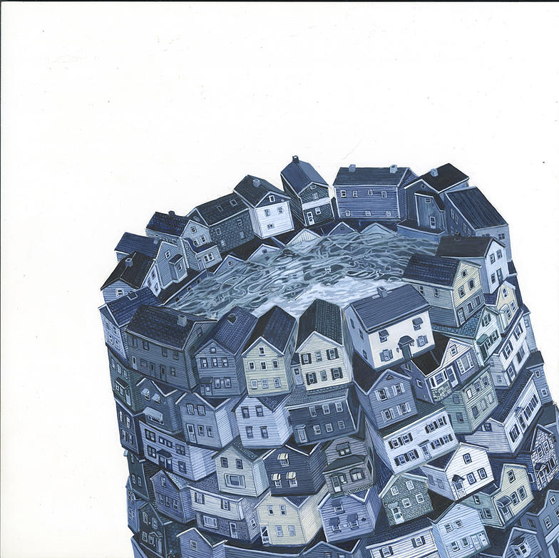 10-Drowning Inside-Amy-Casey-Fantastical-Architectural-Paintings-of-Real-Life-Buildings-www-designstack-co
